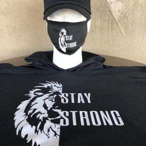 Lion Stay Strong Hoodie with matching Facemask